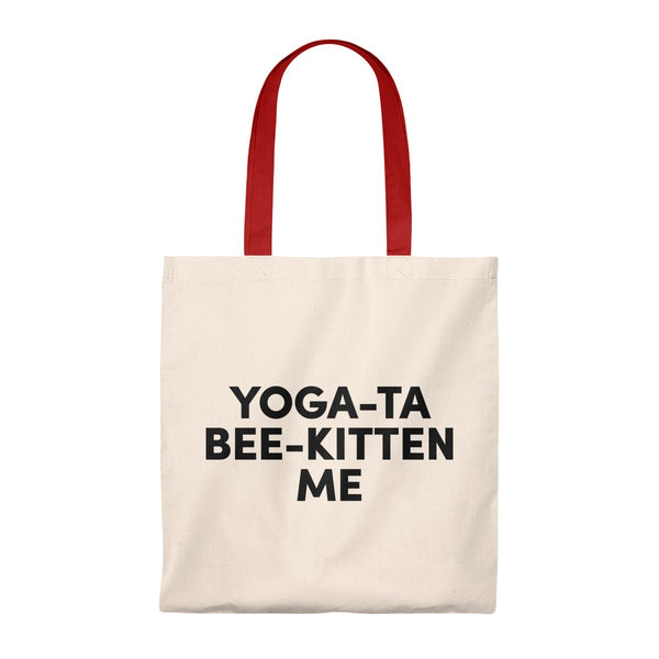 Yoga To Be Kitten Me - Tote Bag - Vintage
