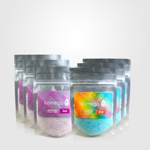 Bath Salt Kit – Lavender Dream & Tropical Breeze Variety Pack Scented Blends of Epsom Salt, Sea Salt, and Essential Oils