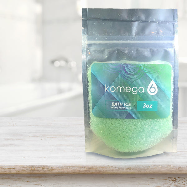 Minty Freshness - Scented Mediterranean Bath Salt (single-serve pack set)