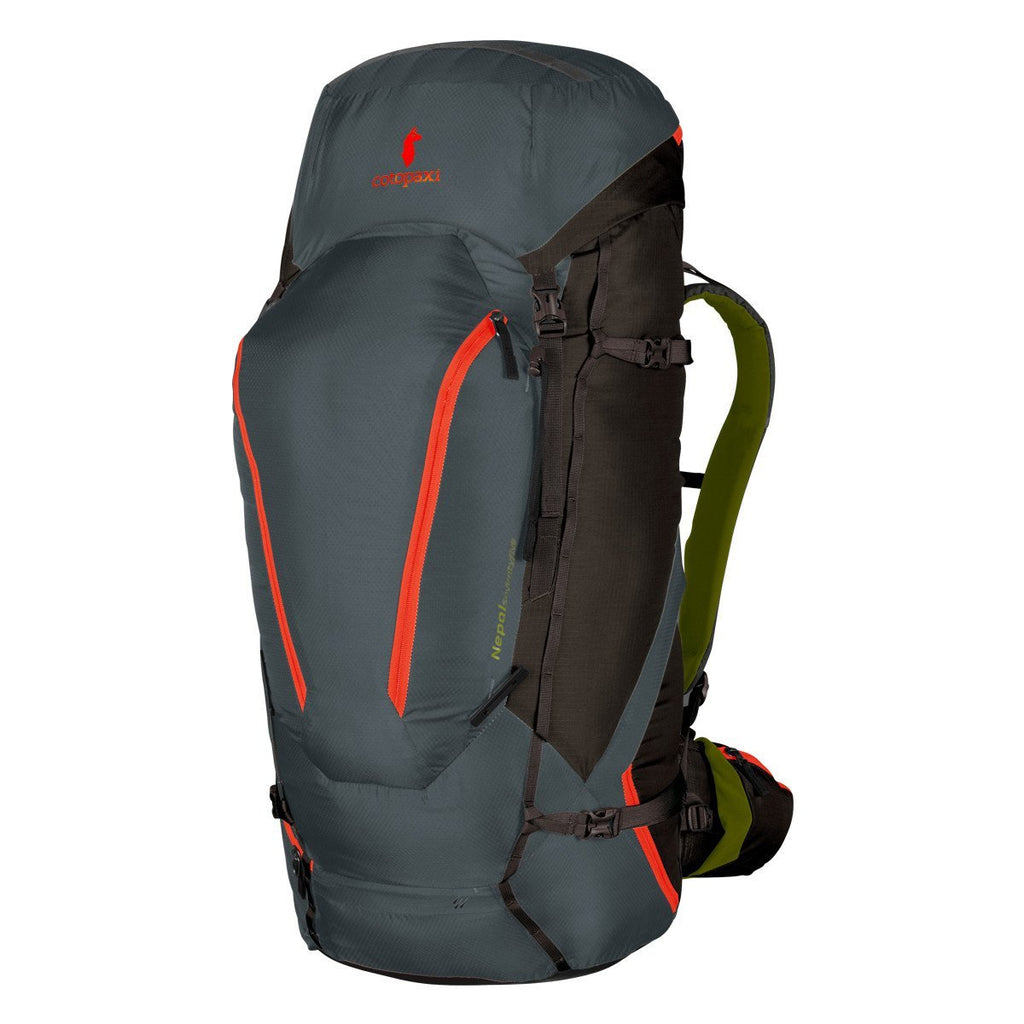 Grey front view of Cotopaxi Nepal 75L Backpack