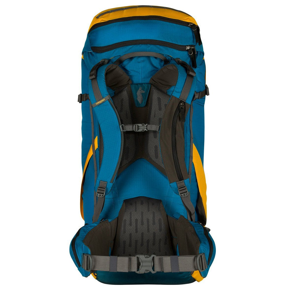 Yellow back view of Cotopaxi Nepal 75L Backpack
