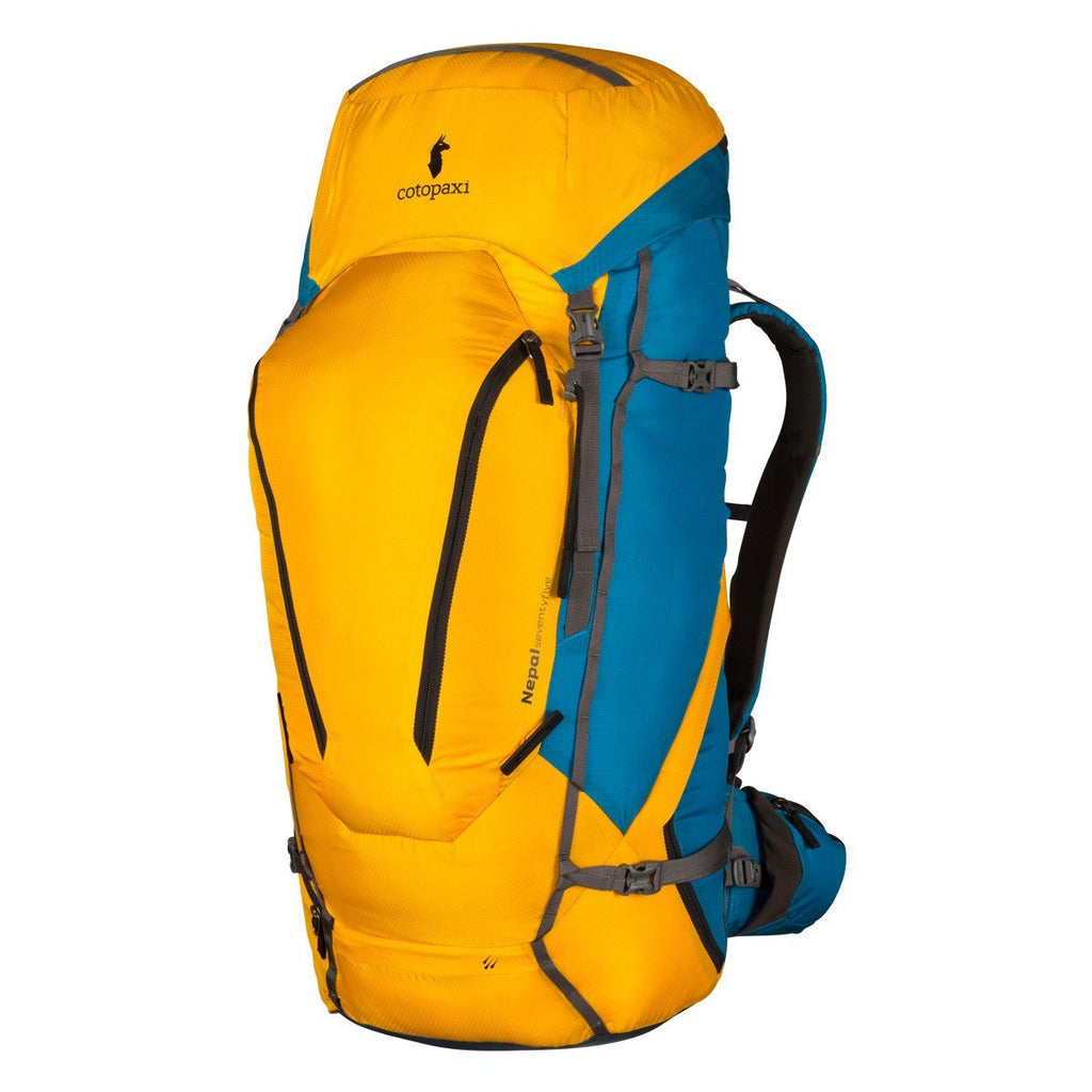 Yellow front view of Cotopaxi Nepal 75L Backpack