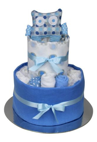 New Beginnings Nappy Cake - Blue