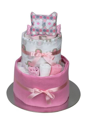 New Beginnings Nappy Cake - Pink
