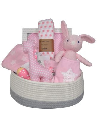 Wrap Me Up girl Baby gift basket Adelaide