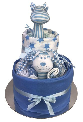 Jungle Essentials Nappy Cake - Blue