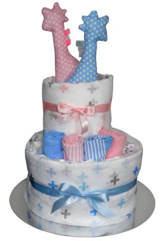 twins nappy cake adelaide, twins gift adelaide