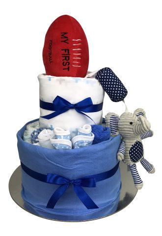 Football Essentials Nappy Cake