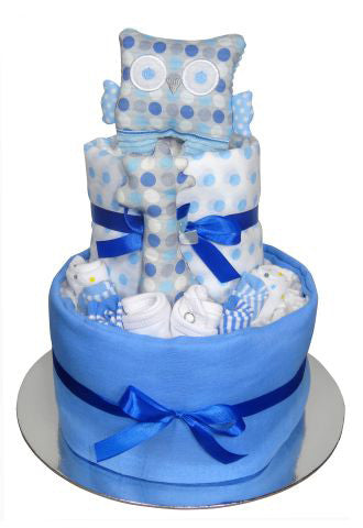 blue 2 tier baby nappy cakes adelaide
