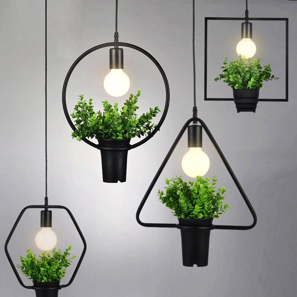 Modern Pendant Ceiling Lights And Plant Pot - DiscountTronics.com