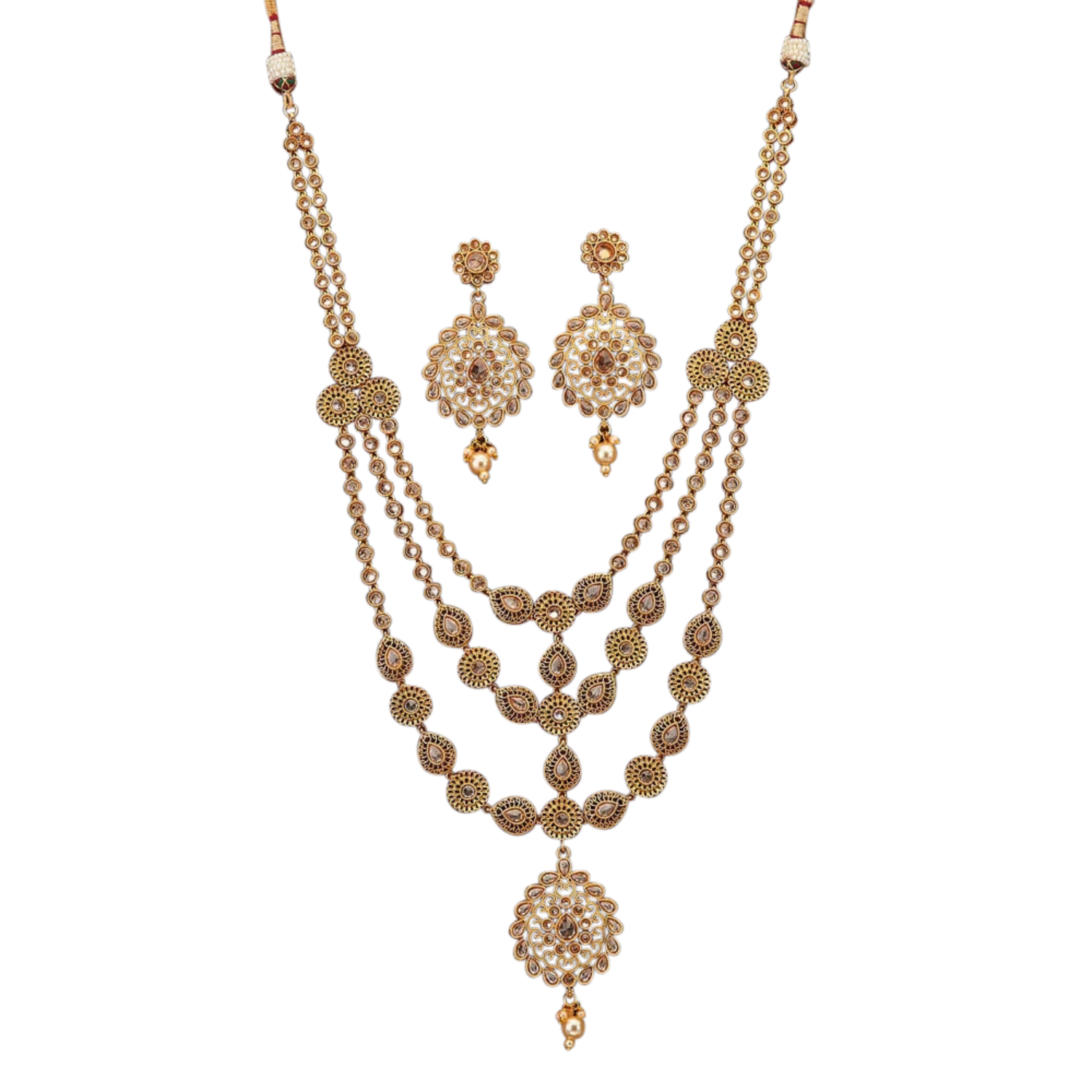 Sanvi Necklace Set - The Pink Bazaar