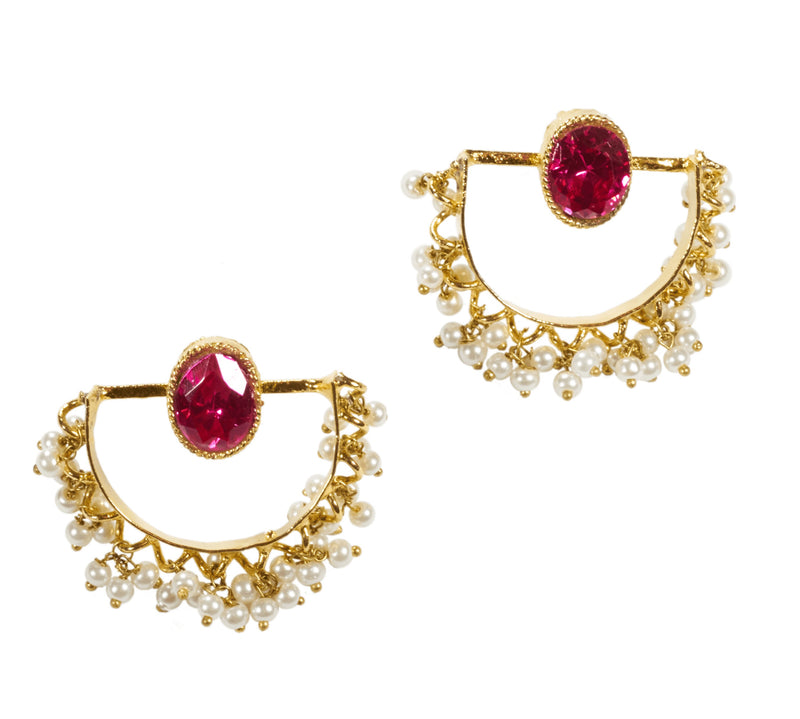 Amrita Statement Earrings - The Pink Bazaar