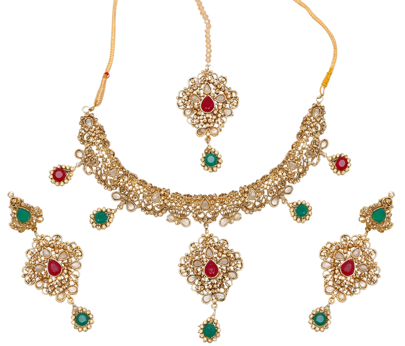 Deepika Festive Necklace Set - The Pink Bazaar