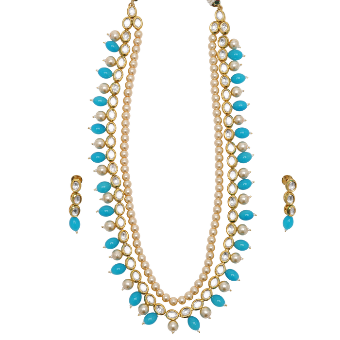 Feroza Necklace Set - The Pink Bazaar