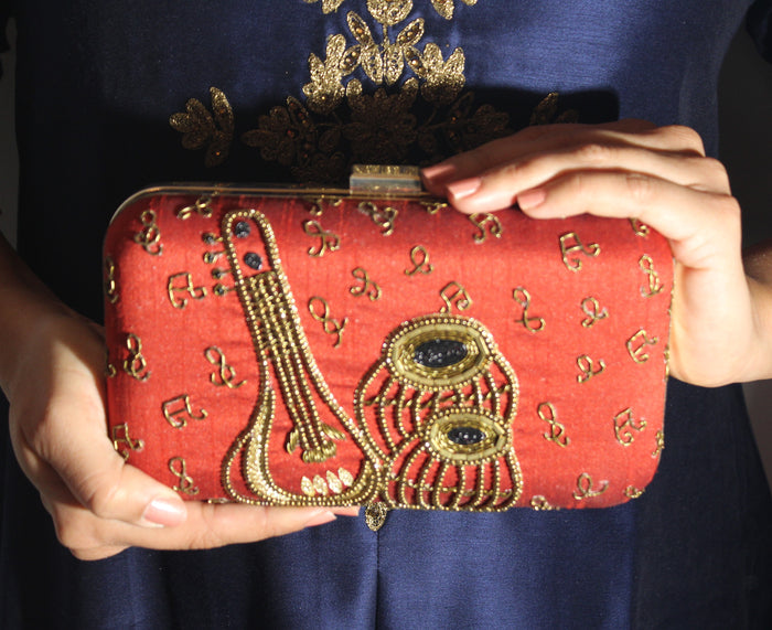 Tabla Clutch - The Pink Bazaar
