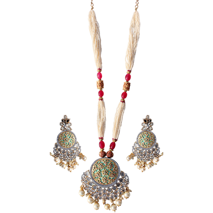 Anjali Necklace Set - The Pink Bazaar