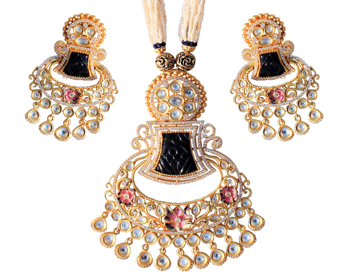 Zoya Necklace Set - The Pink Bazaar