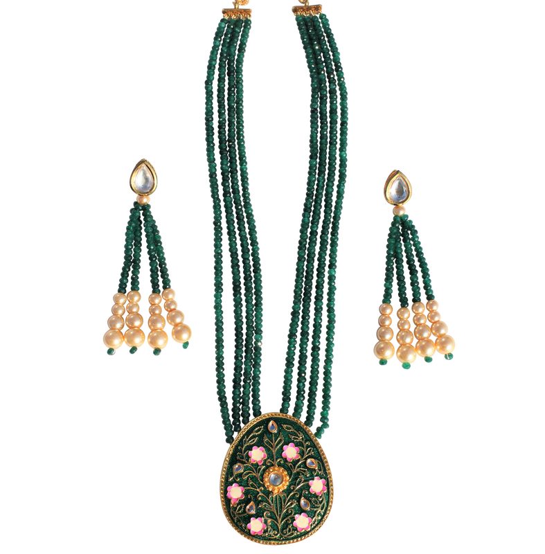Esha Necklace Set - The Pink Bazaar