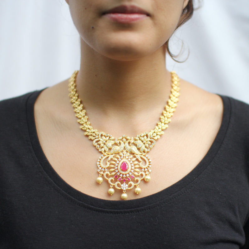 Kavya Necklace Set - The Pink Bazaar