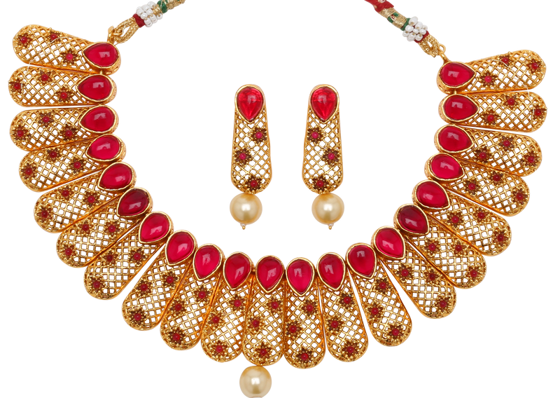 Kaysha Necklace Set - The Pink Bazaar