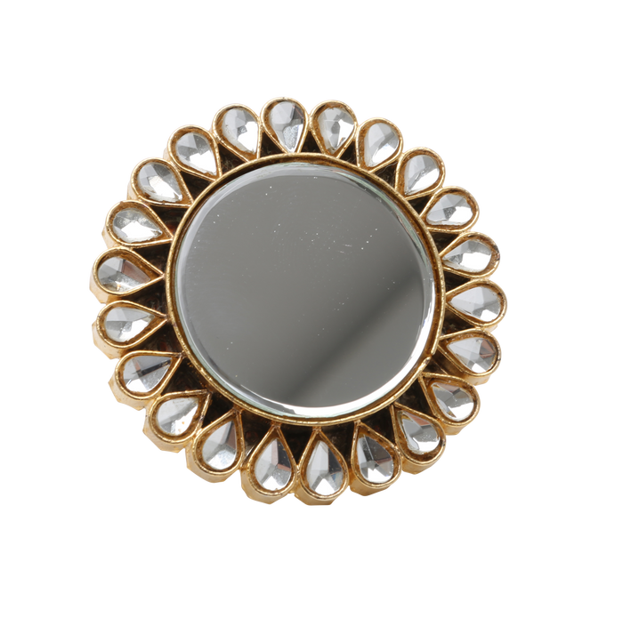 Kundan Mirror Ring - The Pink Bazaar