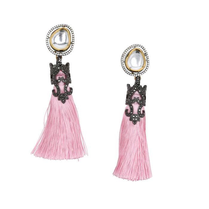 Nishi Tassle Earrings - The Pink Bazaar