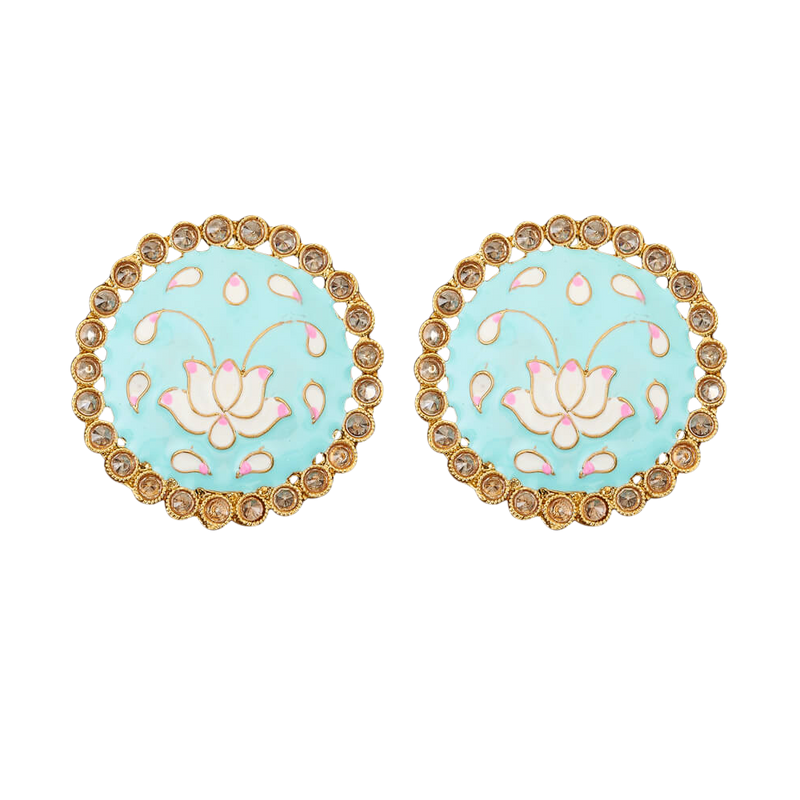 Lotus Studs - The Pink Bazaar