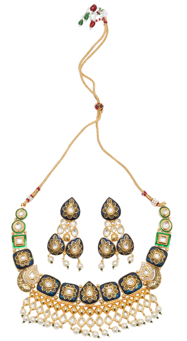 Radha Necklace Set - The Pink Bazaar