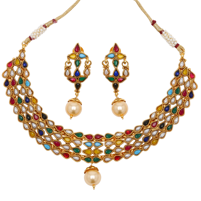 Rashi Necklace Set - The Pink Bazaar