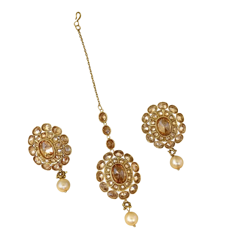 Niti Earring and Tikka Set - The Pink Bazaar