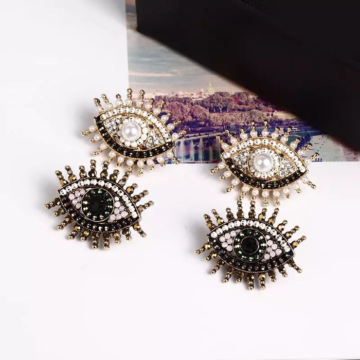 Aankh Earrings - The Pink Bazaar