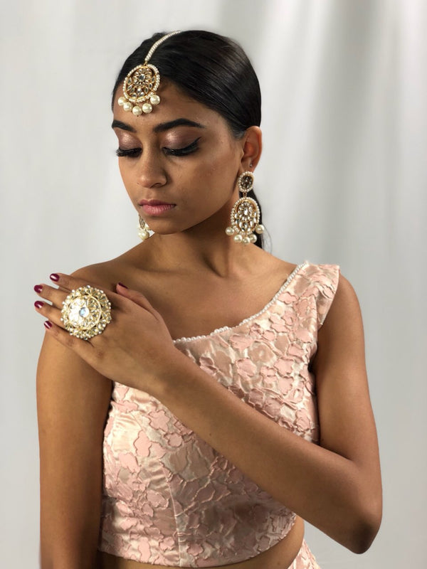 Aneeta Earring and Tikka Set - The Pink Bazaar
