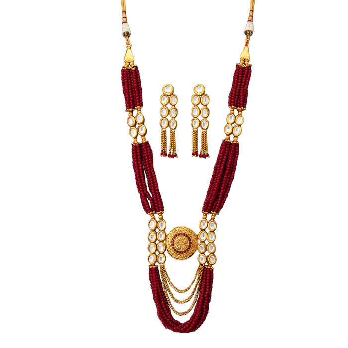 Rubina Necklace Set - The Pink Bazaar