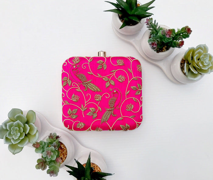 Madhu Clutch - The Pink Bazaar