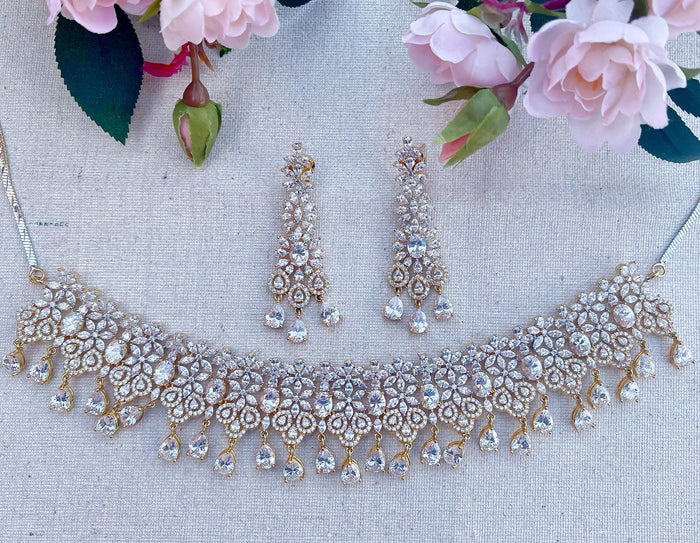 Rose Necklace Set - The Pink Bazaar