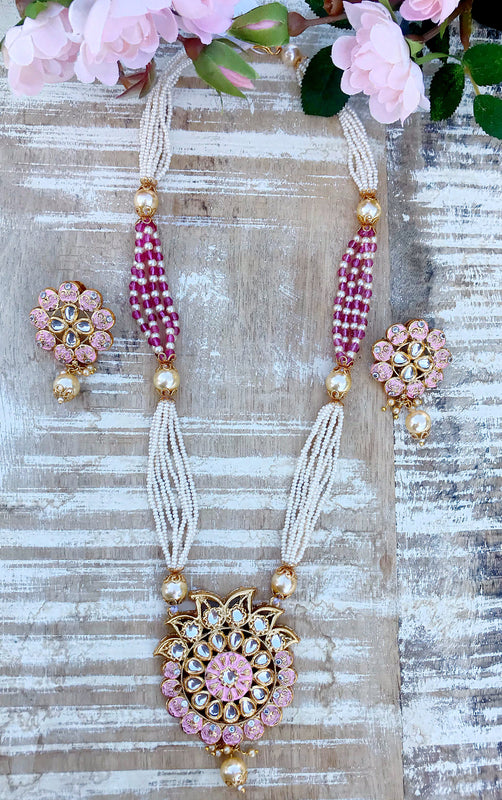 Pooja Necklace Set - The Pink Bazaar