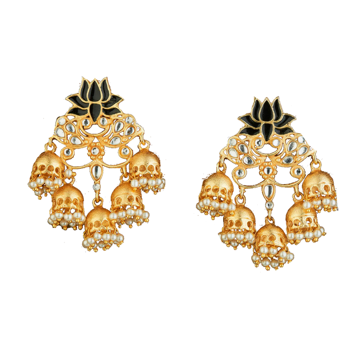 Lotus Chanbali Earrings