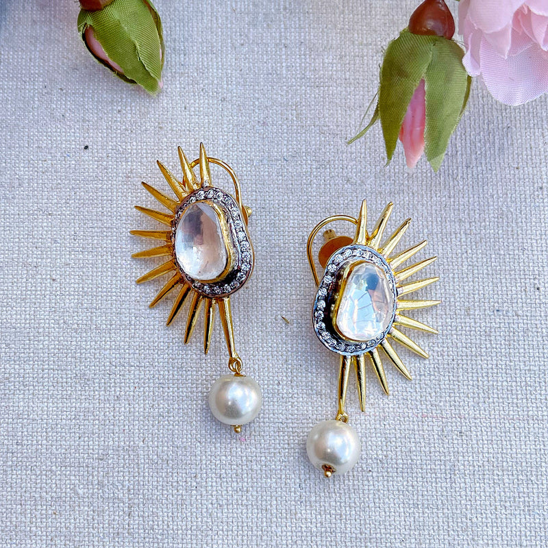 Tara Spike Earrings - The Pink Bazaar