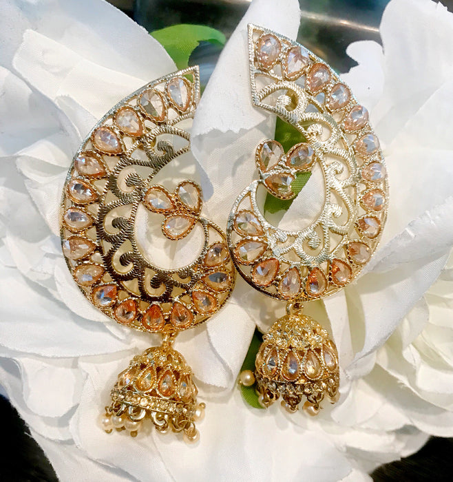 Mehndi Chand Earrings - The Pink Bazaar