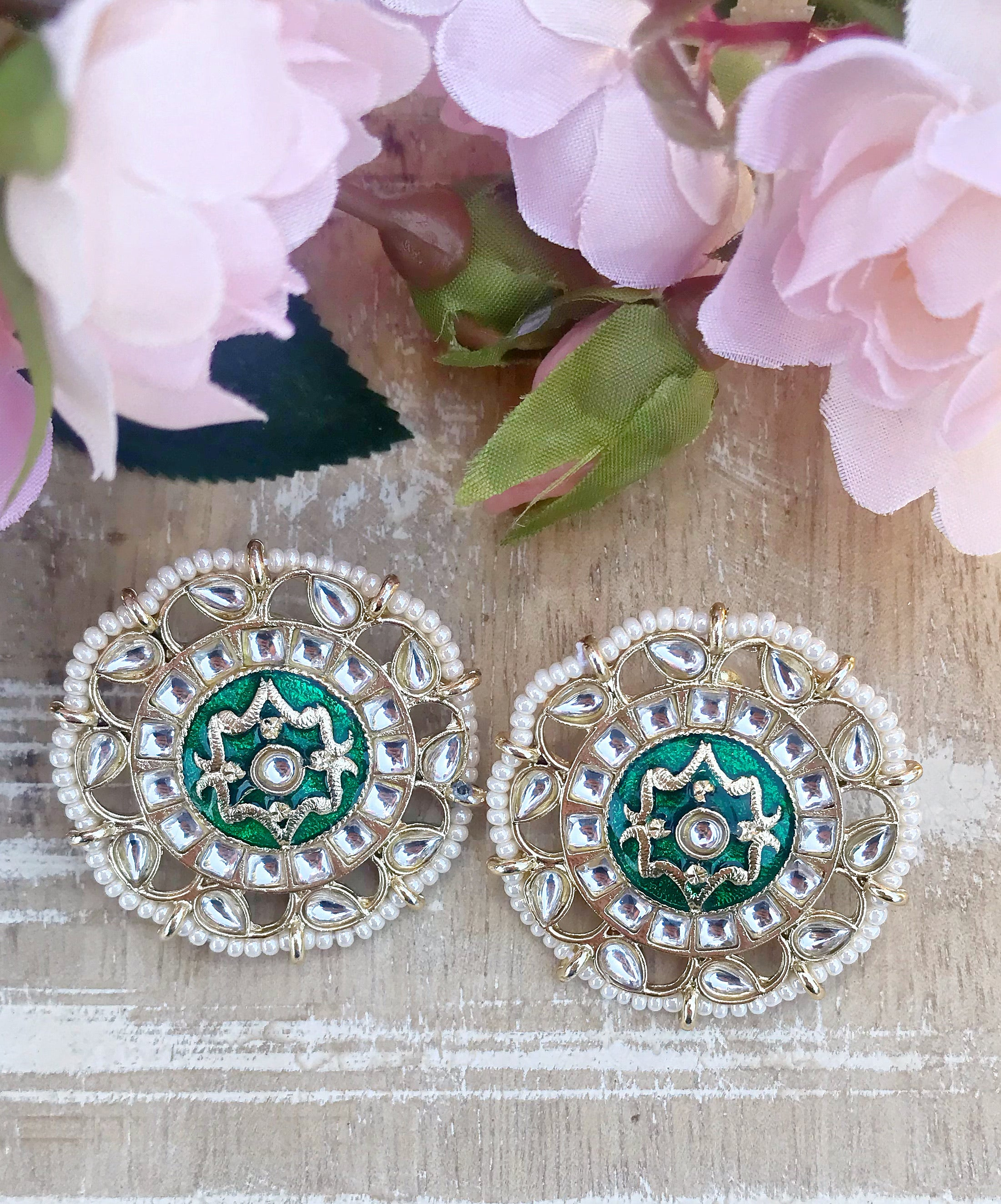 Heera Earrings - The Pink Bazaar