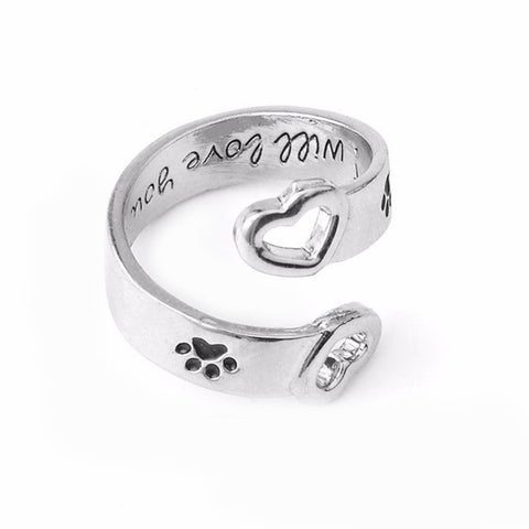 Image of Best Friend Paw Ring