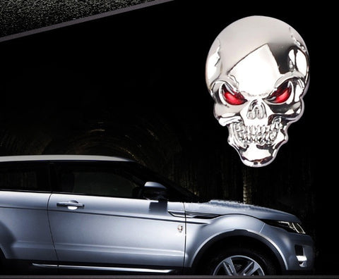 Image of 3D Metal Skull Stickers