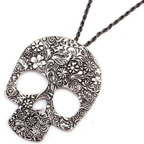 Image of Retro Skull Charm Necklace