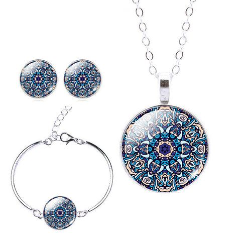 Image of Zen Sterling Silver Jewelry Set