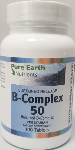 Pure Earth Nutrients B-Complex 50