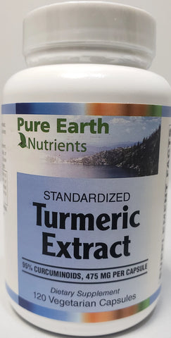 Pure Earth Nutrients Turmeric Extract 500 mg  120 veggie capsules