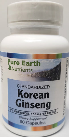 Pure Earth Nutrients Korean Ginseng  90 capsules