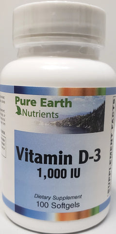 Pure Earth Nutrients Vitamin D-3 1,000 IU