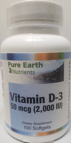 Pure Earth Nutrients Vitamin D-3 2,000 IU