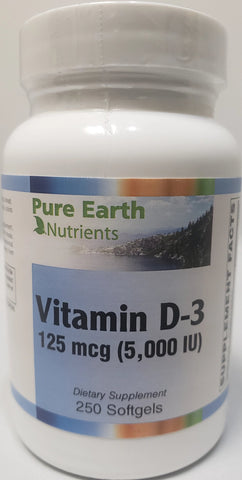 Pure Earth Nutrients Vitamin D-3 5,000 IU